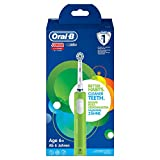 Oral-B Junior Elektrische Zahnbürste für Kinder ab 6 Jahren, mit weichen Borsten & Timer, 1 Putzprogramm, grün
