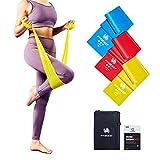 FitBeast Fitnessbänder, Resistance Bands 3-Set, Gymnastikband mit 3 Widerstandsstufen für Training zu Hause, Pilates, Yoga, Physiotherapie, Hautfreundliches Fitnessband mit Türanker & Tragetasche