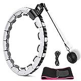 Komake Smart Fitness Reifen,Upgraded Fitness Reifen Ring, Abnehmbare Auto-Spinning 16 Abschnitte, Intelligente Berechnungszeit, Fitness Reifen für Weight Loss Fitness und Massage*