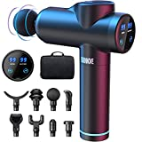 Massagepistole Massage Gun für Nacken Schulter Tiefen Massagegerät mit 99 Geschwindigkeiten 6 Massageköpfen Elektrisches Handmassagegerät 2550 mAh LED Anzeige Touchscreen