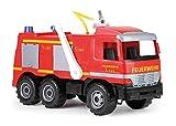 Lena 02058 Starke Riesen Feuerwehr Mercedes Benz Actros, Giga Trucks Feuerwehrauto ca. 65 cm, Löschfahrzeug mit 3 Achsen, 1,5 Liter Tank und Wasserkanone bis 8 Meter, für Kinder ab 3 Jahre, Rot*