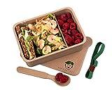 Naturbengel® nachhaltige Brotdose mit Fächern I Jausenbox aus Reishülsen I Auslaufsichere Lunchbox mit Trennwand I Brotzeitbox mit Unterteilung*
