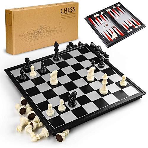 3- in 1 magnetisches Schachspiel