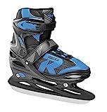 Roces Kinder Jokey Ice 2.0 Verstellbarer Schlittschuh, Black/Astro Blue, 30-33*