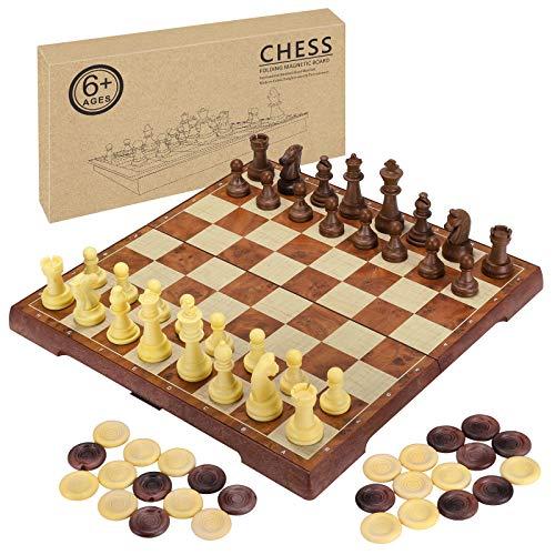 2 in 1 magnetisches Schachspiel