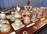 Chessebook Schachspiel aus Holz 52 x 52 cm*