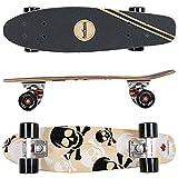 FunTomia Mini-Board Cruiser Skateboard 57cm aus 7-lagigem kanadischem Ahornholz inkl. Mach1 ABEC-11 Kugellager - mit oder Ohne LED Rollen*