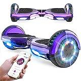 RCB Hoverboard 6,5 Zoll Elektro Skateboard für Kinder und Jugendliche Elektroroller mit Bluetooth - LED Licht Segway mit leistungsstarkem Motor Geschenk für Kinder*