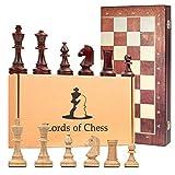 Amazinggirl Schachspiel groß Schach Schachbrett Turnier 40 cm - Staunton 4 Chess Set Tournament hochwertig Holz, klappbar Board Schachfiguren für Kinder Erwachsene