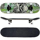 FunTomia Skateboard mit ABEC-9 Kugellager Rollenhärte 100A und 100% 7-lagigem kanadisches Ahornholz*